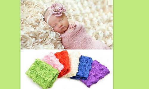 ★★★NEU Fotoshooting Unterlage 3D Rosen Satinstoff Farbwahl 100cmx67cm★★AC