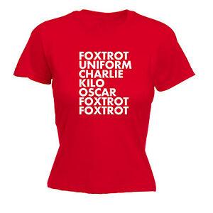 Foxtrot Uniform Charlie Kilo WOMENS T-SHIRT Offensive Birthday Tee Gift birthday