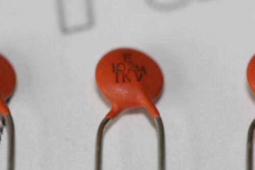 10x Condensadores de Cerámica Radial Dubilier 1nF 1000V 1kV WDK3A102MFB//TA