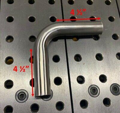 "1.5/"" OD 90 degree Stainless Mandrel Elbow Tube 2.375/"" CLR 0.065/"" wall"