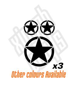 3 x US U.S Army Star Vinyle Stickers Autocollant Voiture Fenêtre Ordinateur Portable Moto