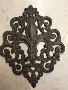 Details About Huge Cast Iron Fleur De Lis Garden Louisiana Saints French Cajun Very Nice