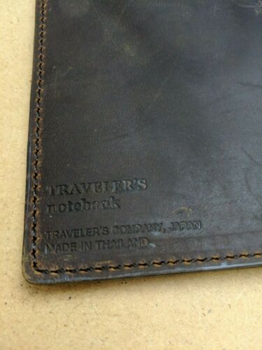 Stitched Pockets Regular Size Brown Midori Travelers Notebook Used Condition