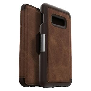 OtterBox-Strada-Samsung-Galaxy-S10e-Leather-Wallet-Case-Cover-Burnt-Saddle-Brown