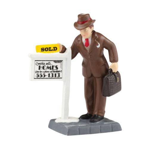 Dept 56 CITC Sold 4036501 D56 Christmas City 2014 Real Estate Agent Accessory