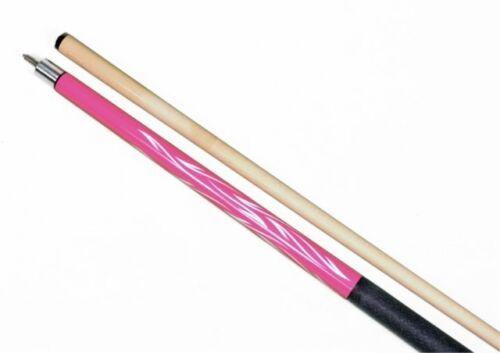"58/"" Pool Cue 2 Piece 20oz Hardwood Maple Pink Billiard Stick Steel Joint"