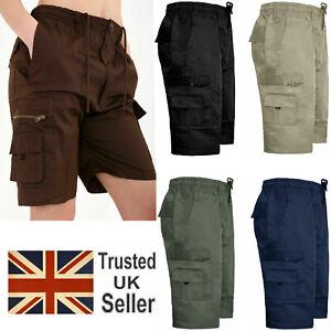 Pantalon-corto-para-hombre-casual-de-carga-de-combate-Elastica-Vacaciones-de-Verano-Algodon