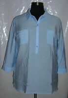 Westbound From Dillard's Blue 3/4 Sleeve Blouse Xl Retail 39.00