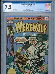 1975 MARVEL WEREWOLF BY NIGHT #32 1ST APPEARANCE MOON KNIGHT CGC 7.5 OW-W BOX1