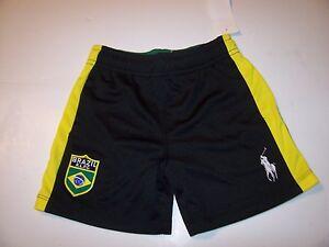 Image is loading NEW-POLO-Ralph-Lauren-BRAZIL-black-green-athletic-