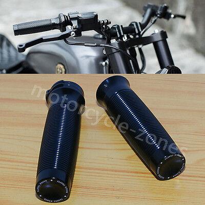 "Custom Black Rough Crafts 1/"" Handlebar Hand Grip Harley Sportster XL 1200 883 48"