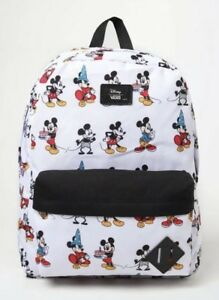 NWT VANS Disney Old Skool II BACKPACK School Book Bag MICKEY HIST ... 37dd18daa36