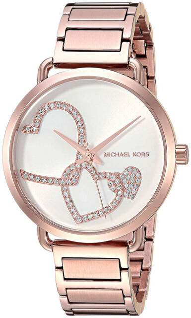 6592fa1be0ac Michael Kors Women s MK3825  portia  Stainless Steel Watch Rose Gold Tone