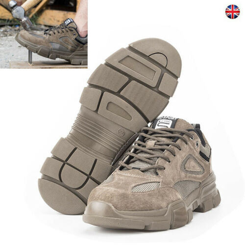 MEN Pro SAFETY TRAINERS SHOES BOOTS WORK STEEL TOE CAP Size 6-12UK Builder Shoes