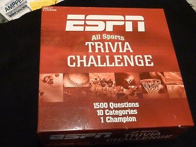 ESPN All Sports TRIVIA Challenge Board Game 1500 Questions - Incomplete