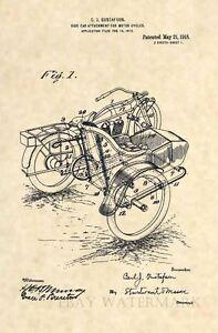 Official-1918-Harley-Davidson-Sidecar-US-Patent-Art-Print-Vintage-Side-Car-358