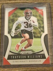 TRAYVEON-WILLIAMS-2019-Panini-Prizm-Silver-Cincinnati-Bengals-Rookie-Card-329
