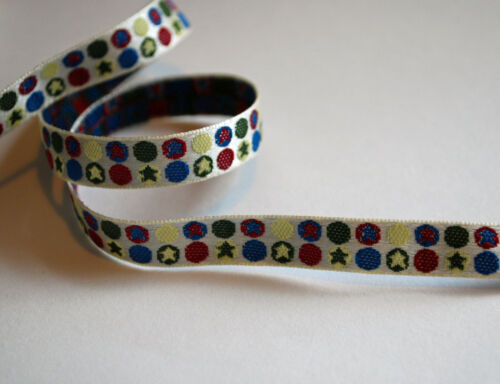BRAID TRIM 10mm Wide * CLEARANCE.! STARS AND CIRCLES