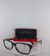 Brand New Authentic Caviar Eyeglasses M 1593 C. 24 Black Brown Wooden Frame 53mm
