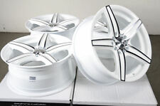 16 5x100 5x114.3 White Rims Fits Mazda 3 6 323 626 Accord CRX Camry Lexus Wheels