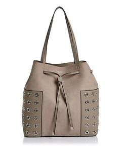 a623da8647aa Tory Burch Block-T Grommet Bucket Tote Bag FRENCH GRAY Retail  525 ...