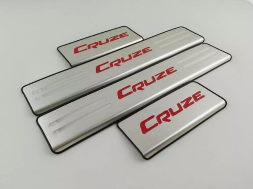 For Chevrolet Cruze Accessories 2016 2019 Door Sill Scuff Plate Protector Red