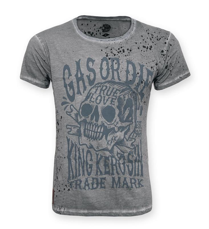 King Kerosin T-Shirt Shirt Mechanic Gas or Die Herren