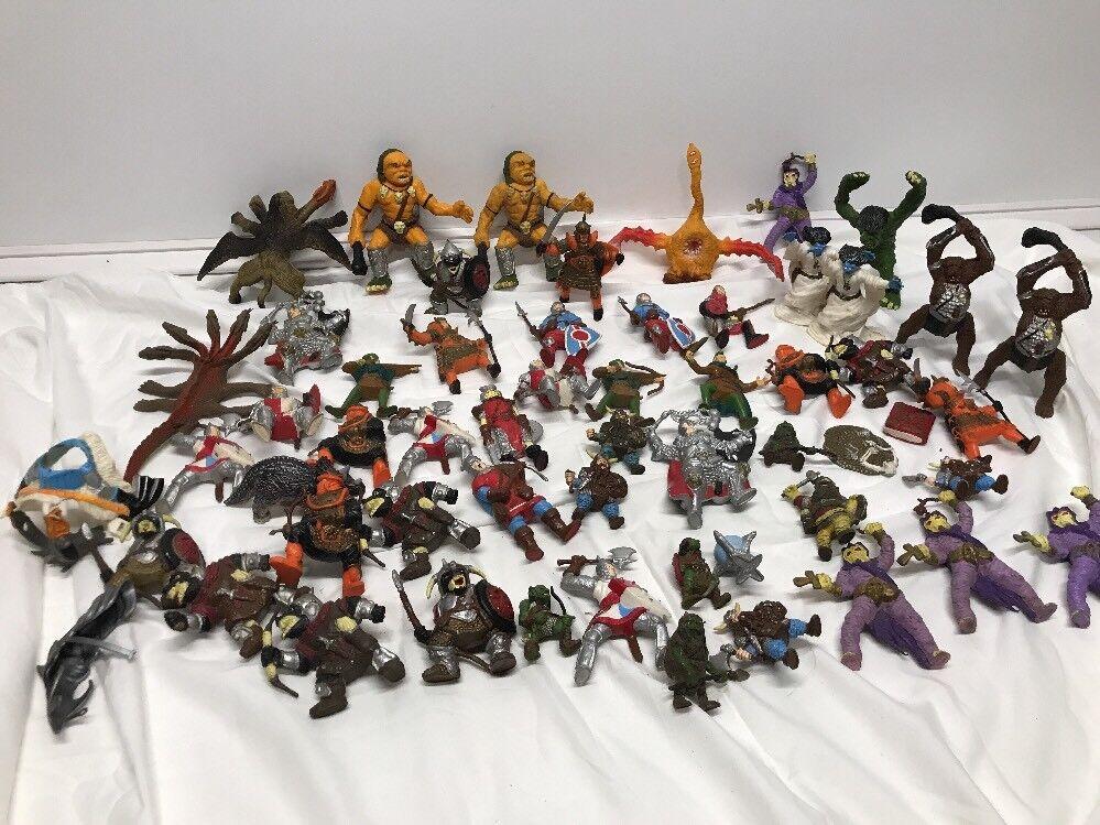 Vintage Calabozos y Dragones Gran Lote De 55 Figuras de Pvc Ljn TSR