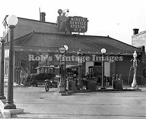 Minute-Gas-OiService-Station-Photo-Gasoline-Ford-Model-T-1927-photo