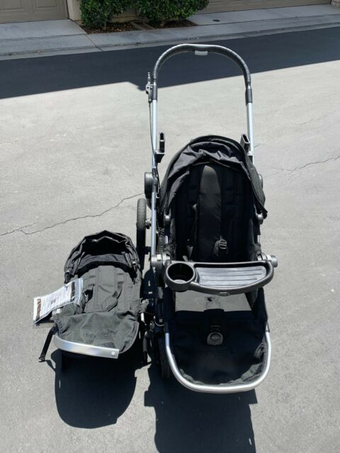 Baby Jogger City Select Lux Twin Double Stroller Taupe W Second Seat