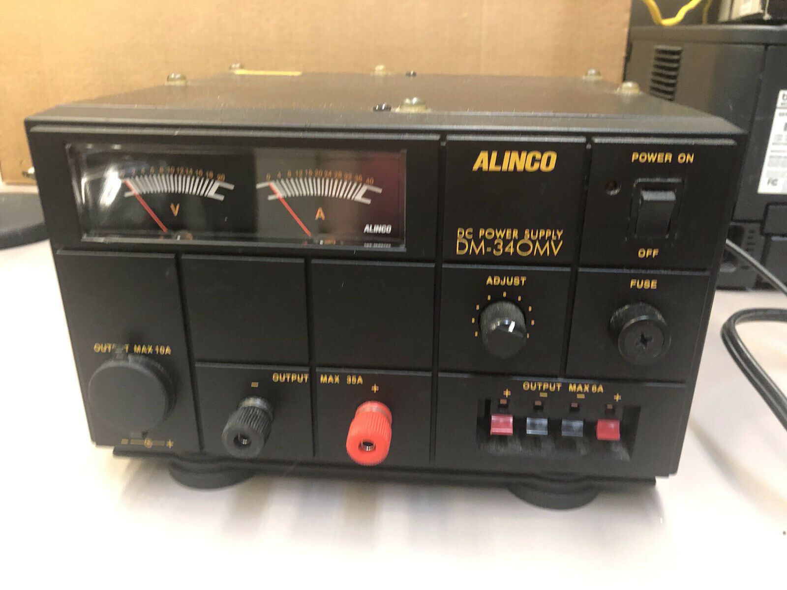Alinco DM-340MV DC Class 2.5 Power Supply 50 to 60Hz, 35A Max, 30A Continuous. Available Now for 150.00
