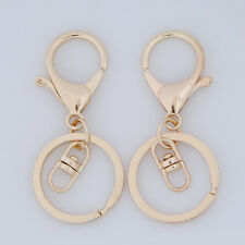 50pcs Wholesale KC Gold Lobster Clasp Alloy Key Ring Keychain Fit Jewelry DIY L