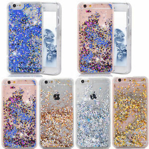 wholesale dealer de3f3 b42f3 Details about Dynamic Quicksand Glitter Heart Liquid Hard Phone Case Cover  For iPhone 7 8 6s 5