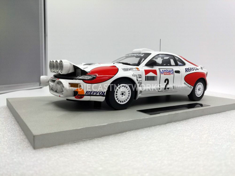 Top Marques Toyota Celica GT4 Vincitore Rac Rally 1992 Visione Notturna  2 1/18