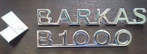 BARKAS + B1000 + IFA Schriftzug / Tür Emblem aus ALU mit Gewindebolzen DDR NEU