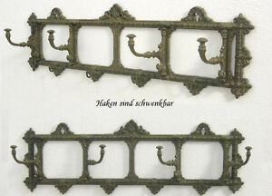 Wandgarderobe Gusseisen Wand Kleider Haken Leiste Eisen Gelenk Garderobe Bronze