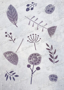 Leaf Botanical Pattern STENCIL 2 sizes LO Leaves Furniture SUPERIOR 250 MYLAR