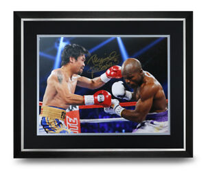 Manny-Pacquiao-Signed-Photo-Large-Framed-Boxing-Display-Autograph-Memorabilia