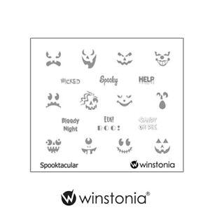 Winstonia Halloween Nail Art Stamping Image Plate ...