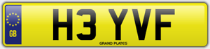VF-INITIALS-NUMBER-PLATE-HEY-HI-CHERISHED-CAR-REG-H3-YVF-NO-ADDED-FEES-TO-PAY