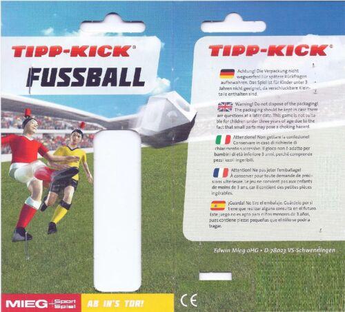 Tipp-Kick Top Kicker GIALLO PERSONAGGIO GIOCATORE TIP KICK con uno angolare ribattitura piede