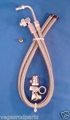 Braided Stainless Steel Power Steering hose Lokar gm pump flaming River rack