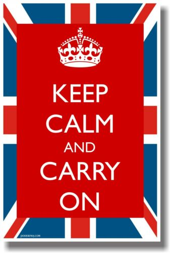 British Flag NEW Classic POSTER Keep Calm and Carry On