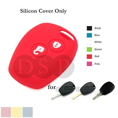 Silicone Cover fit for RENAULT Clio Kangoo DACIA Logan Sandero Remote Key CaseRD