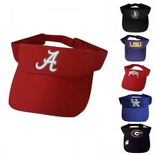 NCAA Visor Embroidered Logo Pick College Team Adjustable Visor School Colors