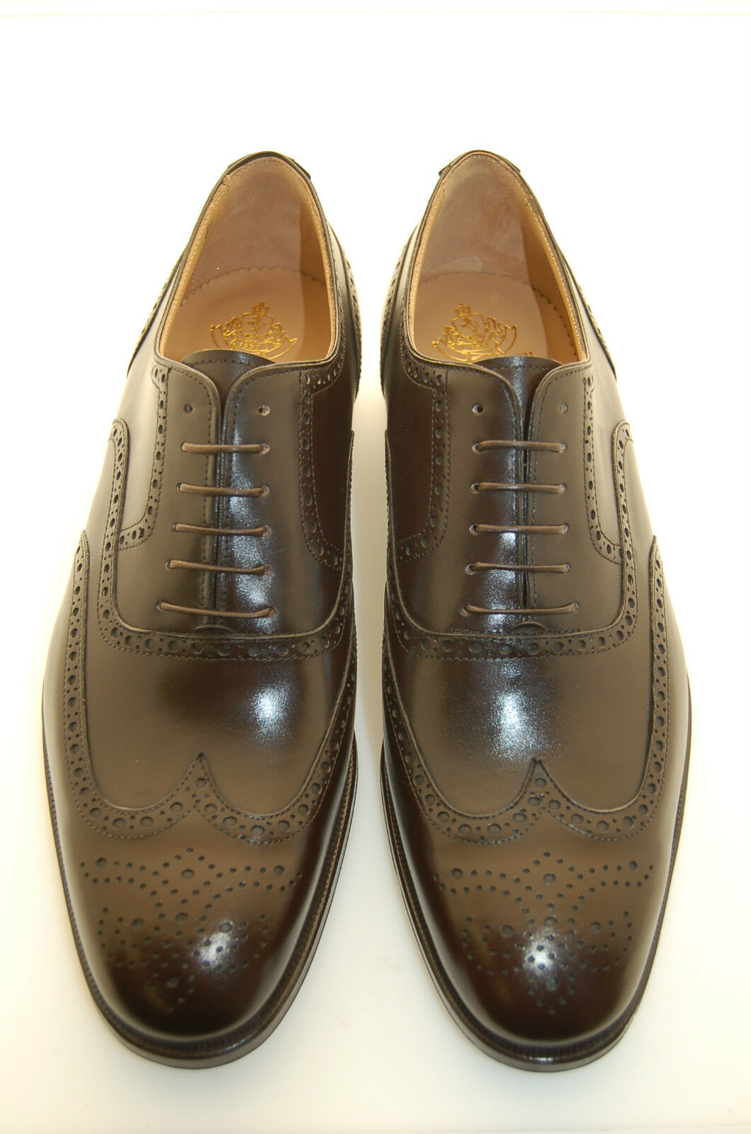 MAN OXFORD WINGTIP - HEAD BROWN DOUBLE CALF - PERFS&MEDALLION - DOUBLE BROWN LTH SOLE-BLAKE 7e2fe5