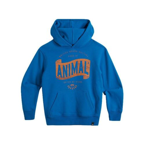 ATLANTE degli Animali per Ragazzi con Cappuccio Bandiera Blu Animale ragazzo Abbigliamento Tops