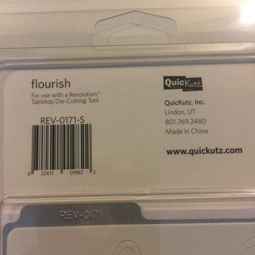 QUICKUTZ FLOURISH 4X4 ONE CUTTING DIE REV-0171-S NEW