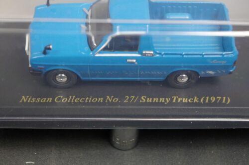 Nissan Sunny Truck 1971 1//43 Scale Box Mini Car Display Diecast vol 27