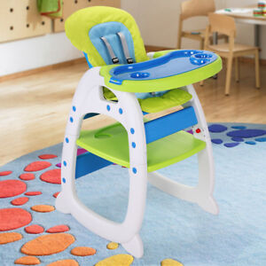 Baby High Chair Table 3 In 1 Convertible Play Seat Booster